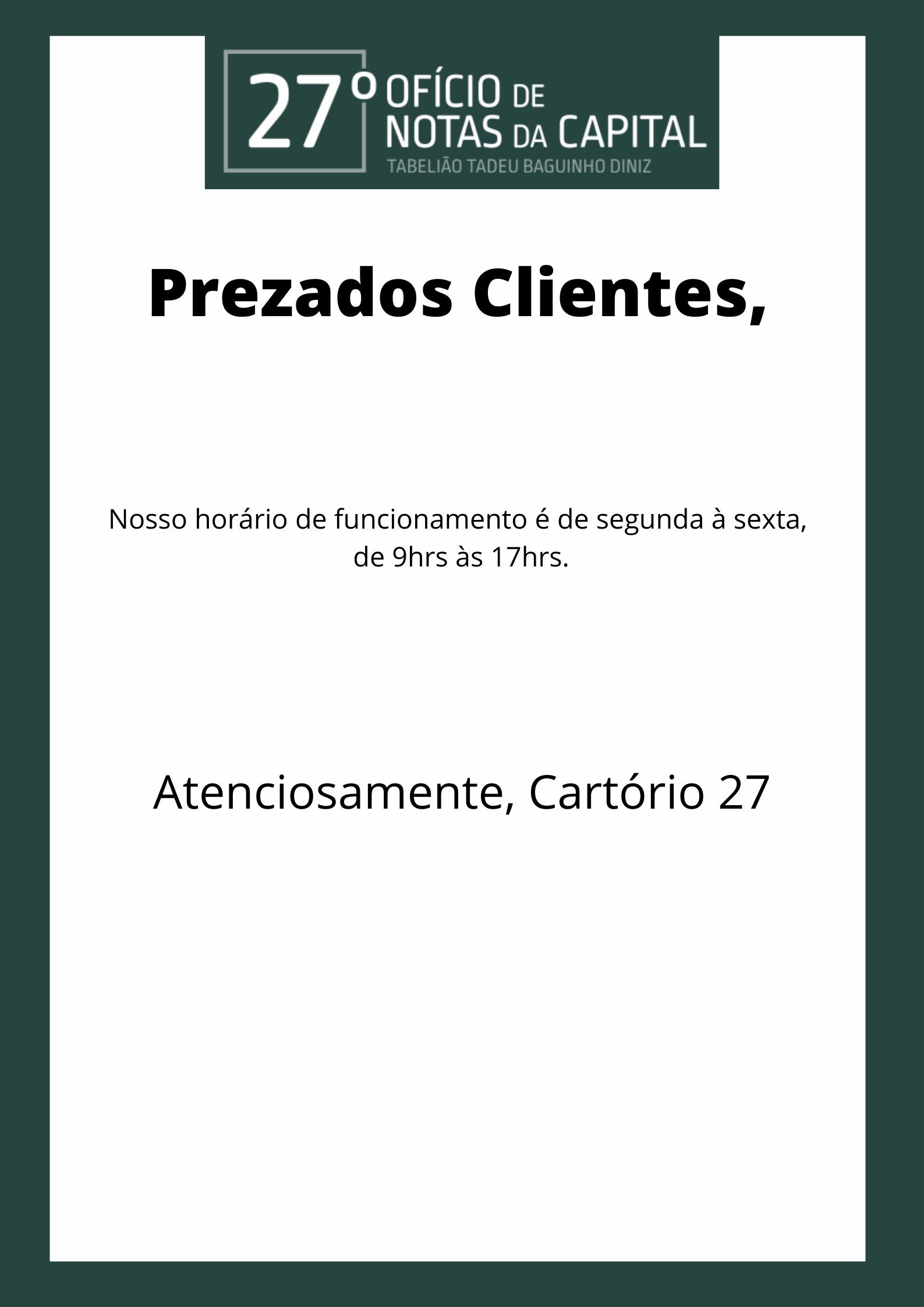 Prezados Clientes, (2)
